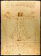 Vitruvian Man drawing by Leonardo da Vinci, Italy