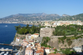Sorrento view from above the harbour, Naples, Campania, Italy