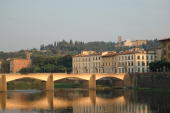 Bridge crossing the river Arno in Florence, Tuscany, Italy
